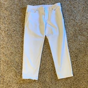 LOFT relaxed straight crop size 4/27